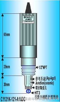 C1121K-121-A10BCB.J.C 管路型酸碱度电极