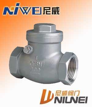 H14W-不锈钢内螺纹旋启式止回阀