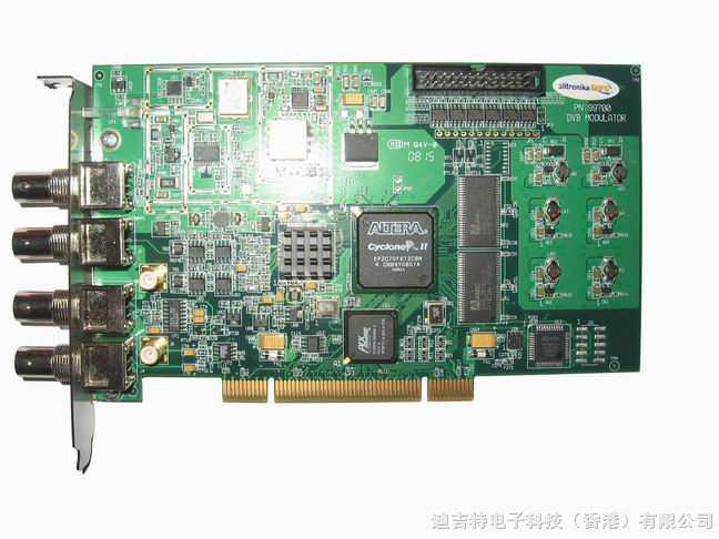 广播级DVB-T2/T/H信号(纯硬件)调制卡