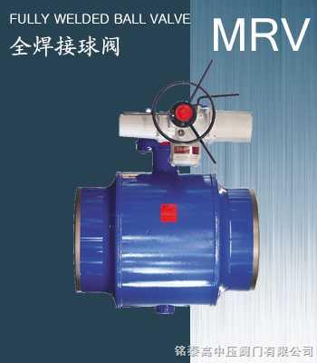 电动/齿轮/蜗轮驱动全焊接球阀