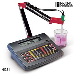 台式实验室酸度计/ORP/温度测定仪 型号:HANNA HI221C